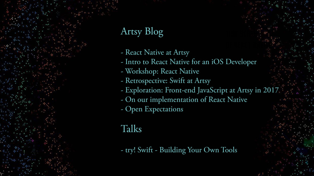TWO YEARS OF REACT NATIVE Artsy Blog - React Na...