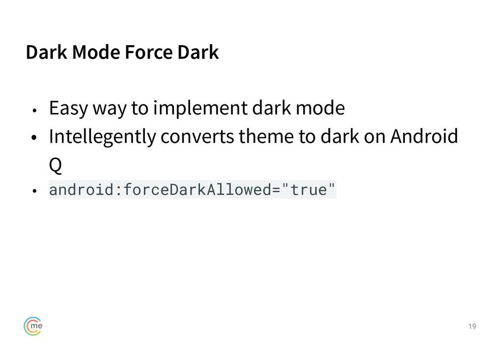 Dark Mode Force Dark 19 • Easy way to implement...