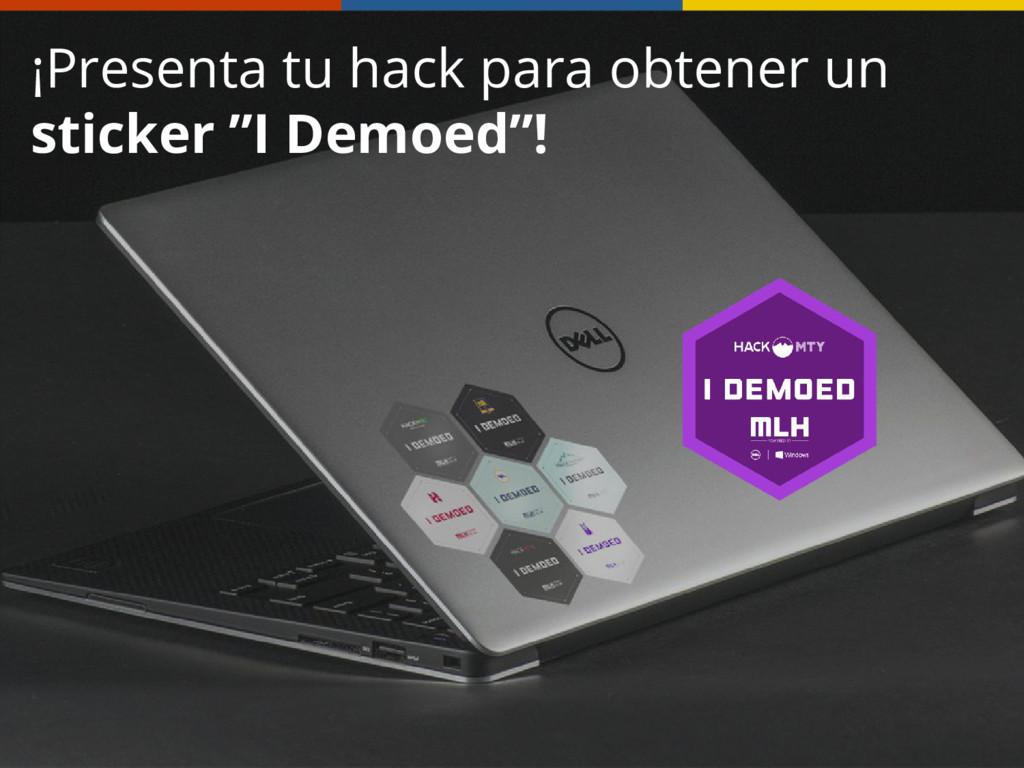 """¡Presenta tu hack para obtener un sticker """"I De..."""