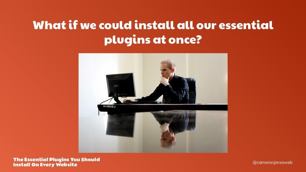 @cameronjonesweb The Essential Plugins You Shou...