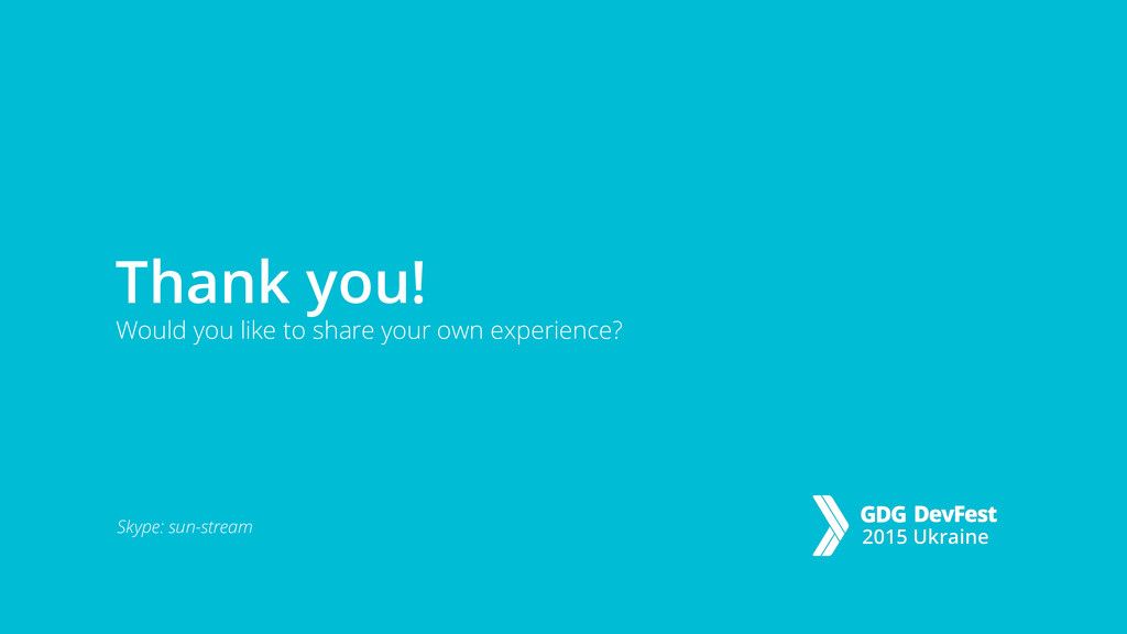 Thank you! Would you like to share your own exp...