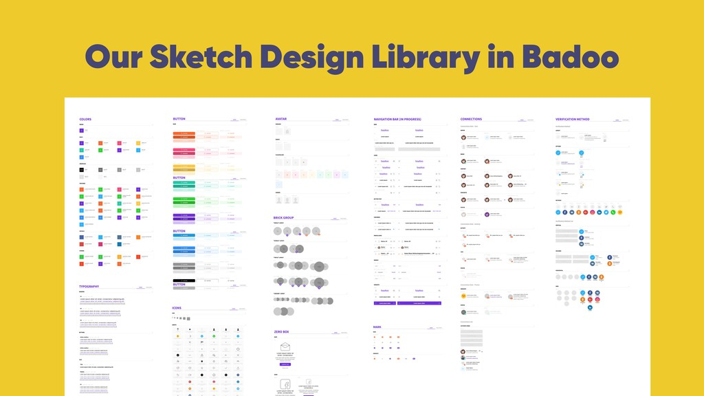 Our Sketch Design Library in Badoo