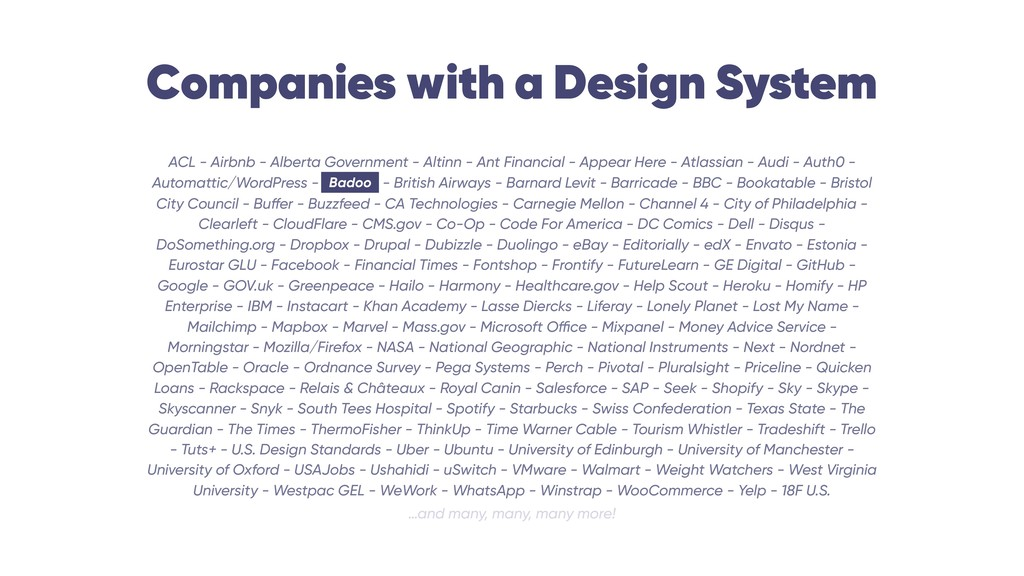 Companies with a Design System ACL - Airbnb - A...