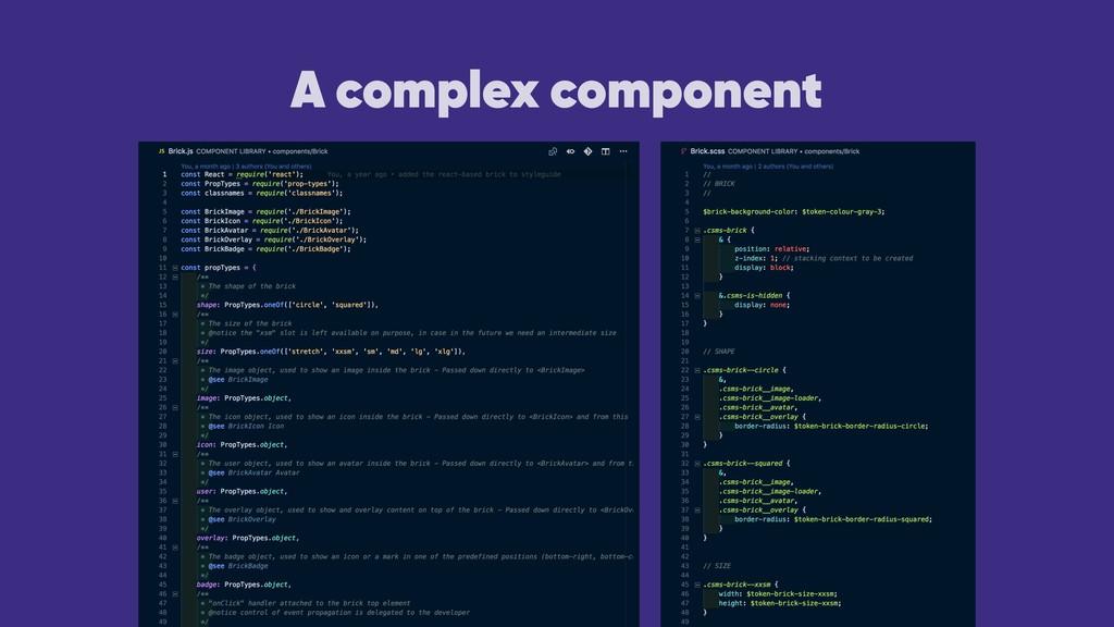 A complex component