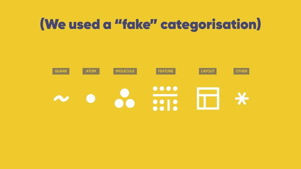 """(We used a """"fake"""" categorisation) quark atom mo..."""