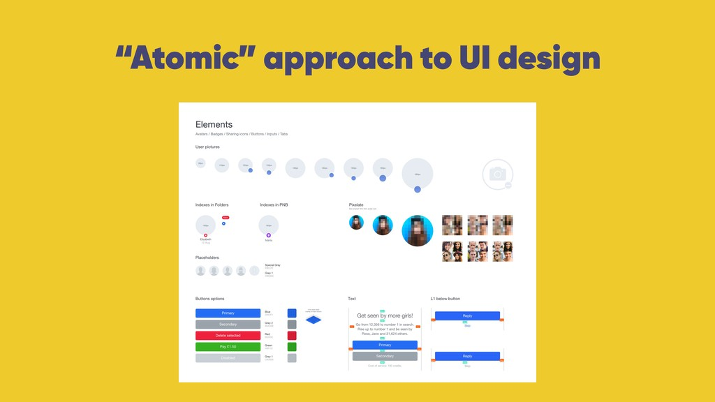 """""""Atomic"""" approach to UI design"""
