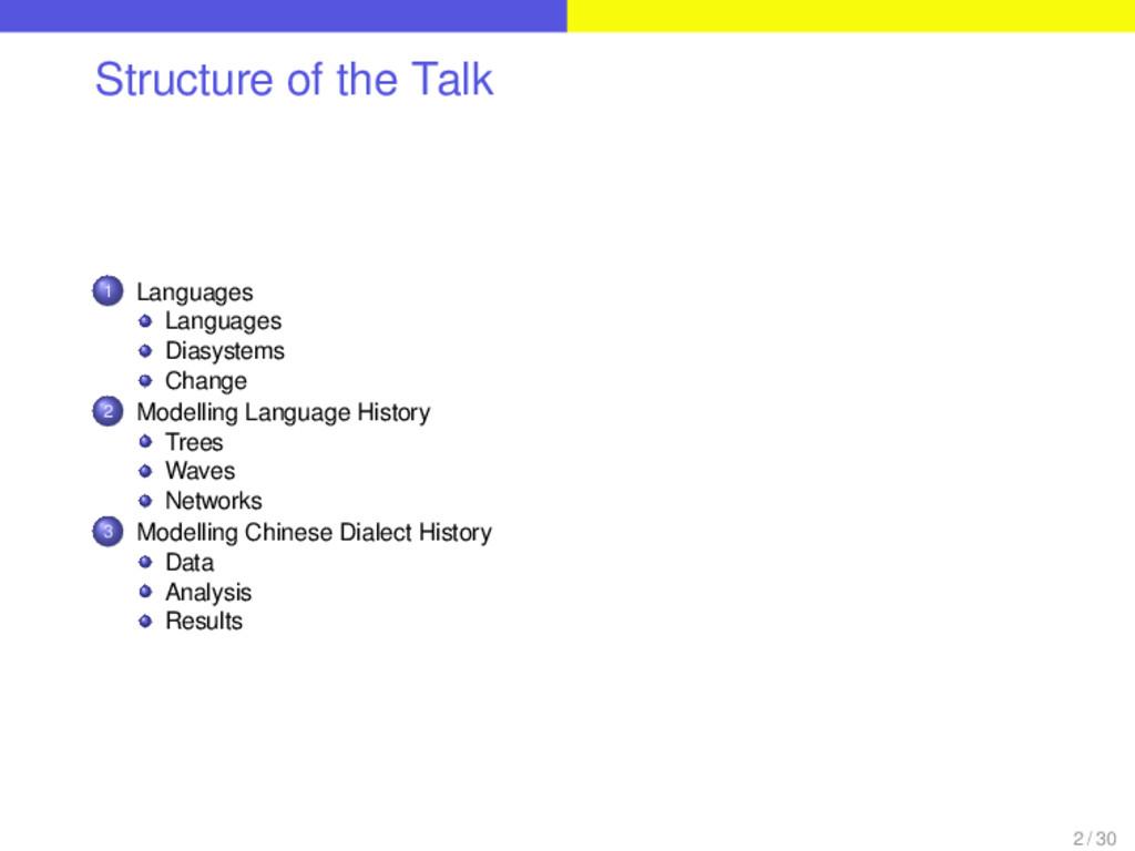 Structure of the Talk . . . 1 Languages Languag...