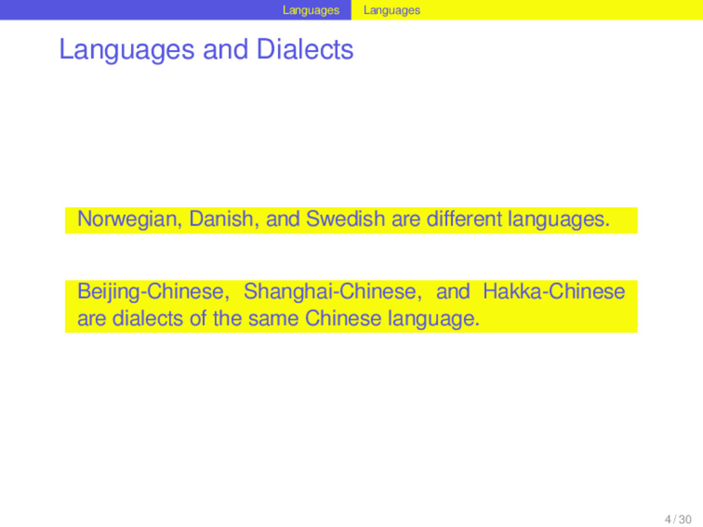 Languages Languages Languages and Dialects Norw...