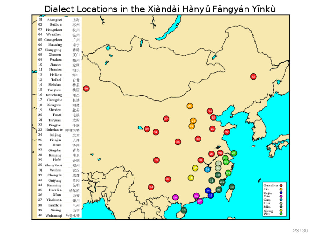 Modelling Chinese Dialect History Data Data 01 ...