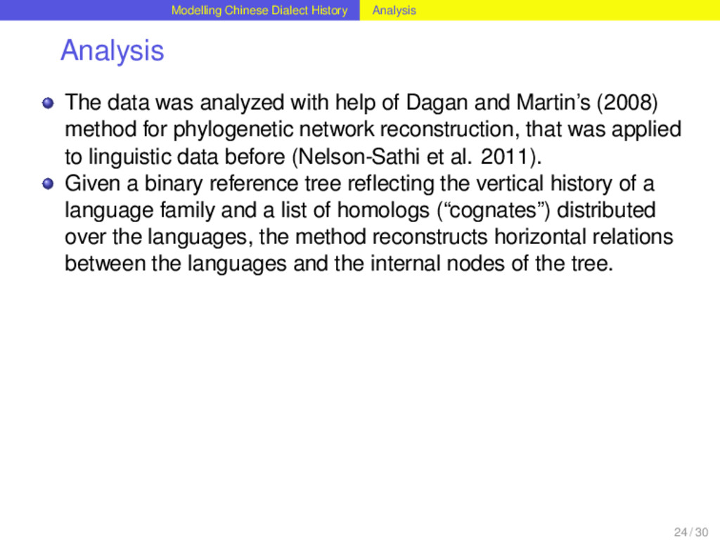 Modelling Chinese Dialect History Analysis Anal...