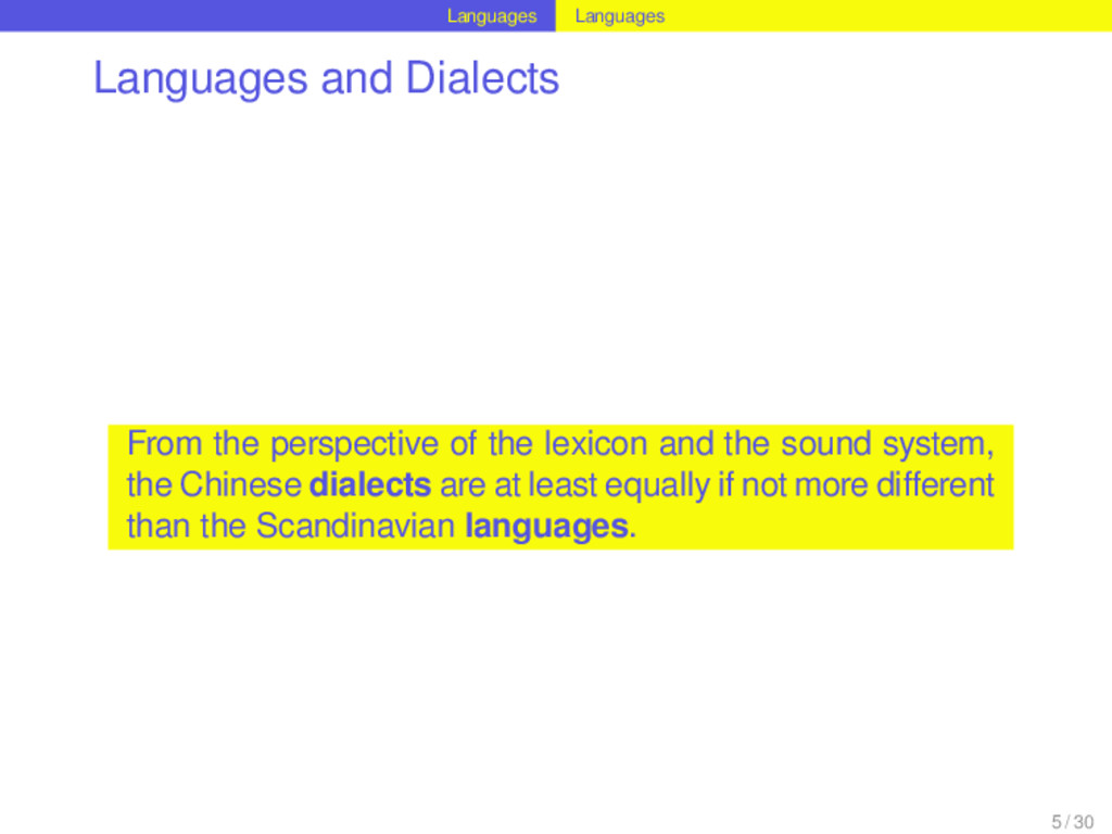 Languages Languages Languages and Dialects From...
