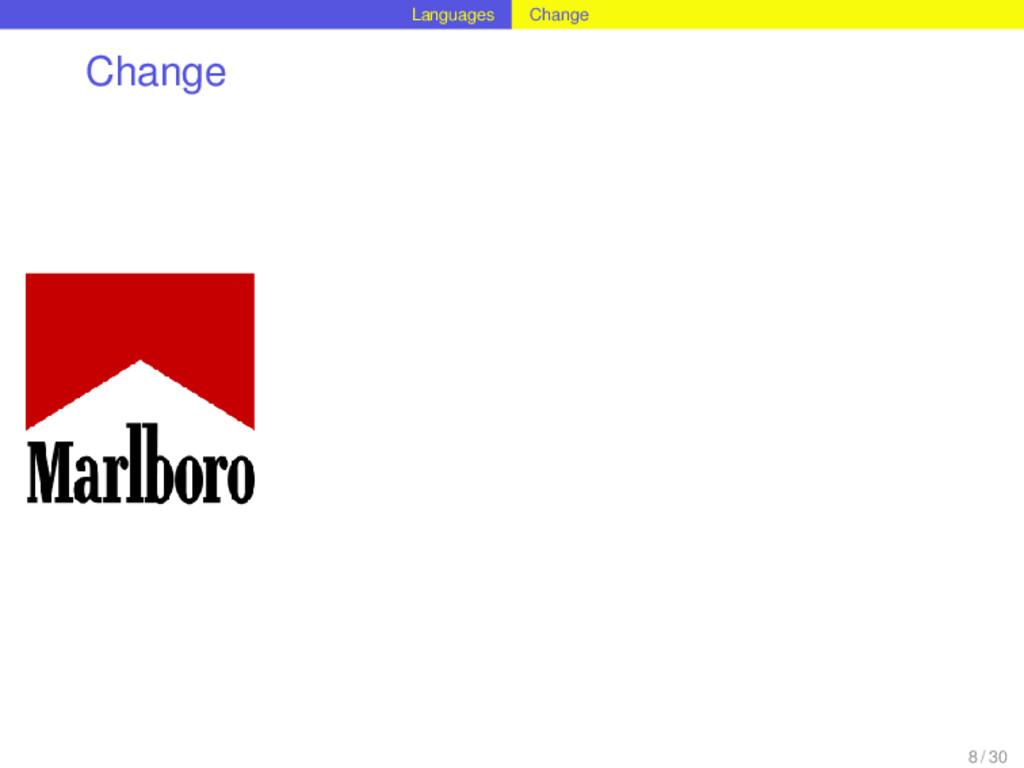 Languages Change Change 8 / 30