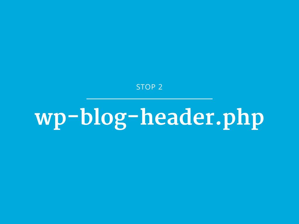 STOP 2 wp-blog-header.php