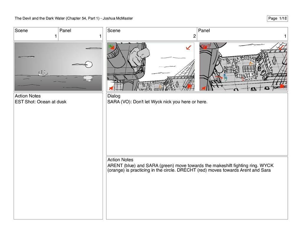 Scene 1 Panel 1 Action Notes EST Shot: Ocean at...