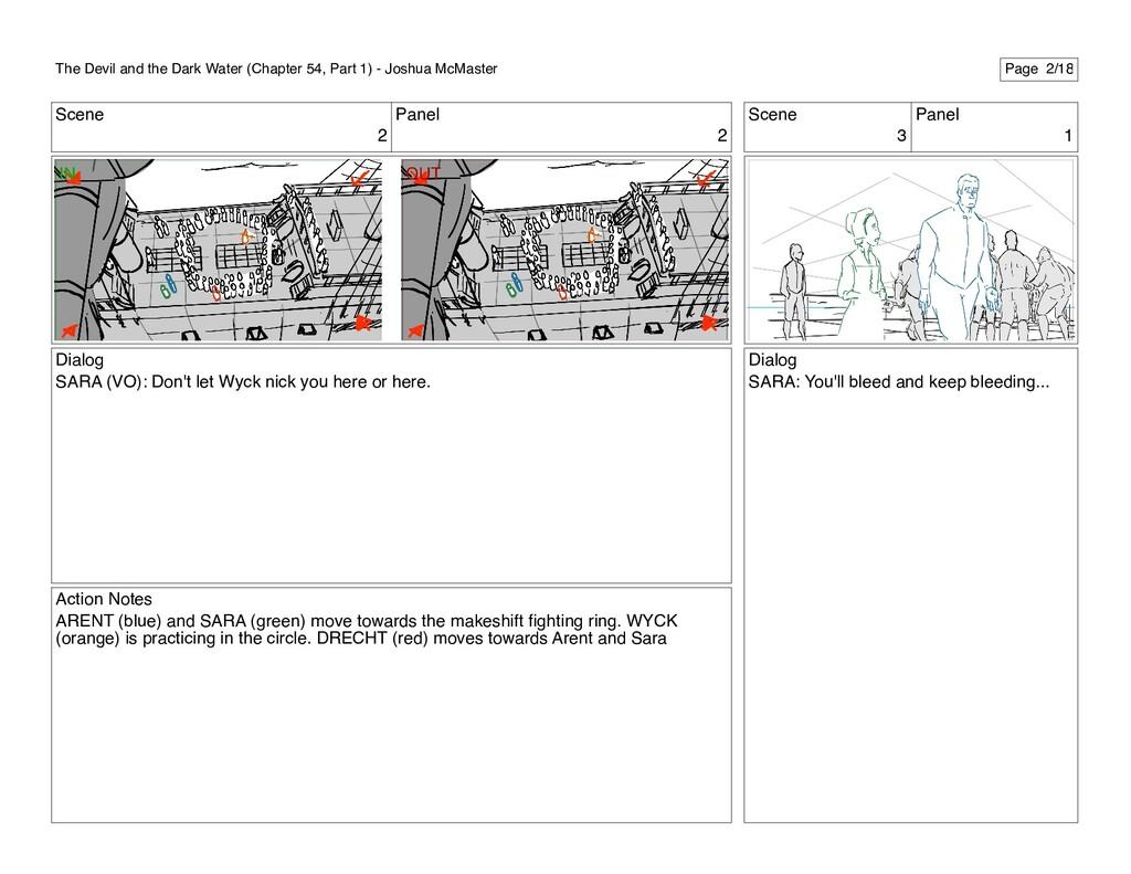 Scene 2 Panel 2 Dialog SARA (VO): Don't let Wyc...