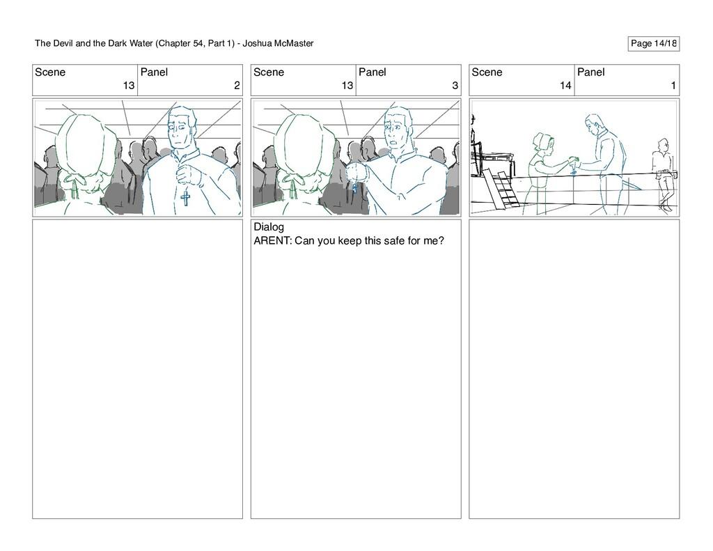Scene 13 Panel 2 Scene 13 Panel 3 Dialog ARENT:...