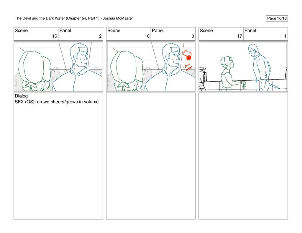 Scene 16 Panel 2 Dialog SFX (OS): crowd cheers/...