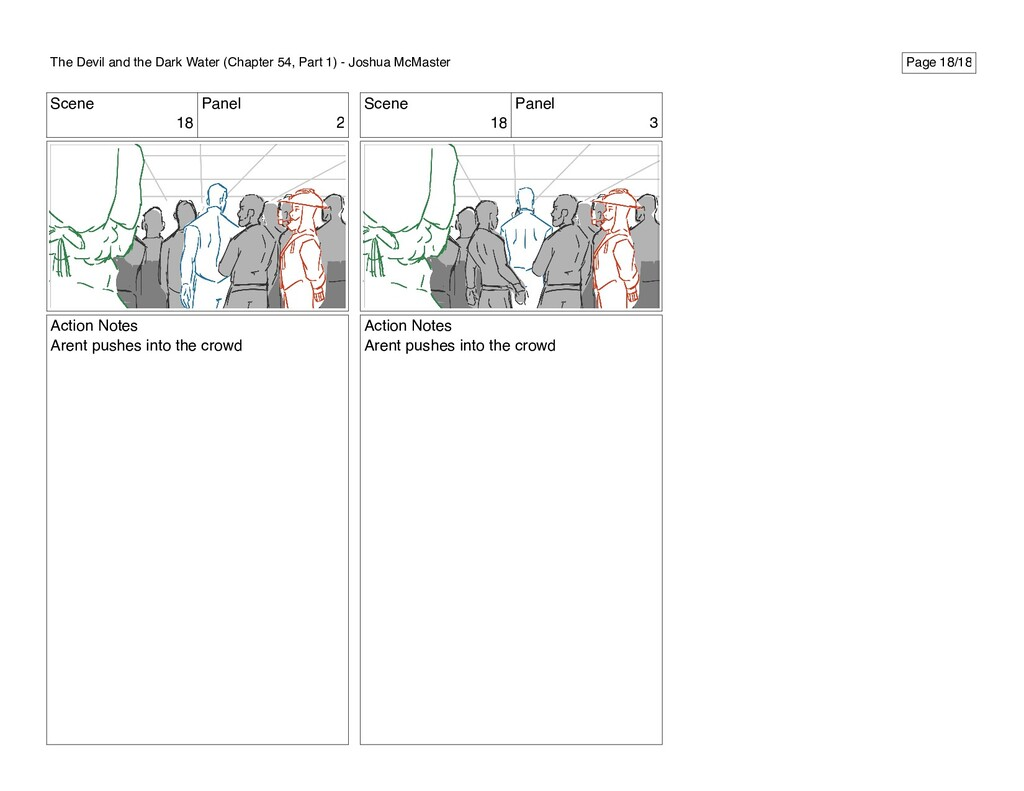 Scene 18 Panel 2 Action Notes Arent pushes into...
