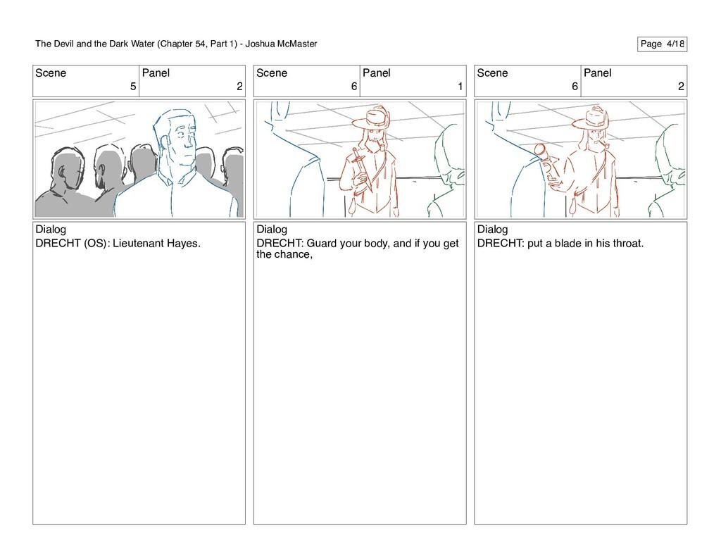 Scene 5 Panel 2 Dialog DRECHT (OS): Lieutenant ...