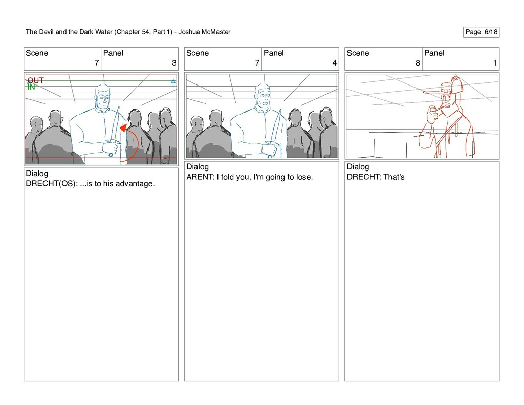 Scene 7 Panel 3 Dialog DRECHT(OS): ...is to his...