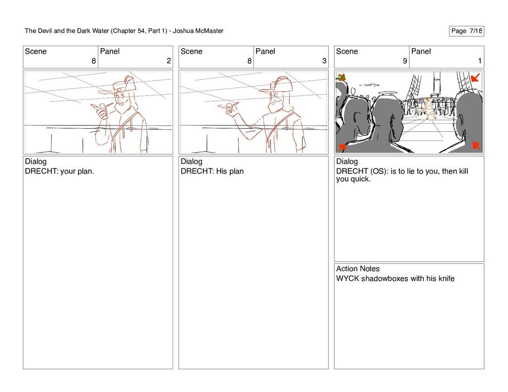 Scene 8 Panel 2 Dialog DRECHT: your plan. Scene...