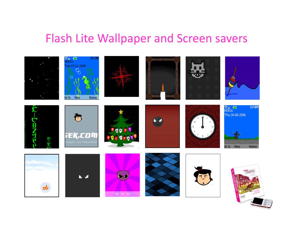 Flash Lite Wallpaper and Screen savers Flash Li...