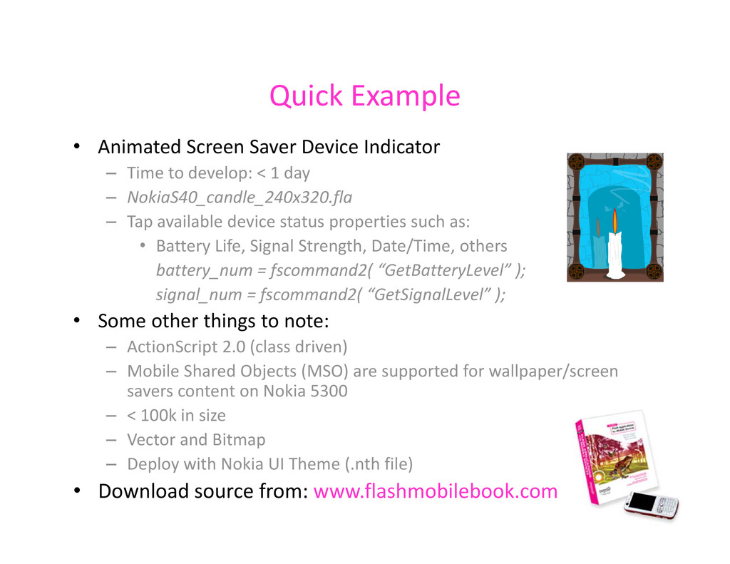 Quick Example Quick Example • Animated Screen S...