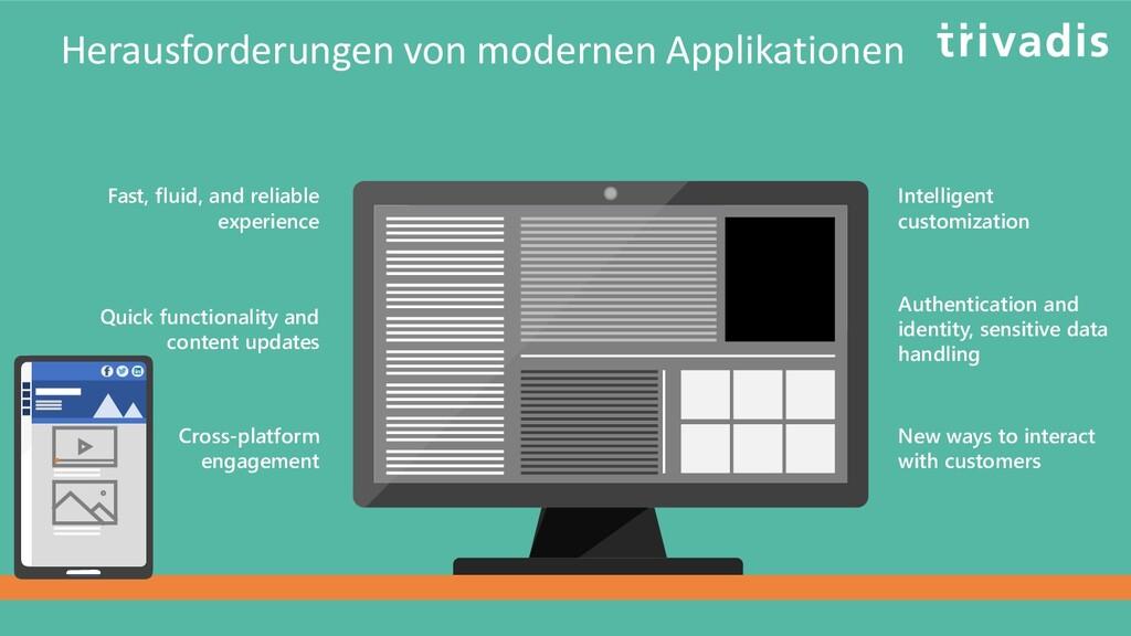 Herausforderungen von modernen Applikationen Fa...