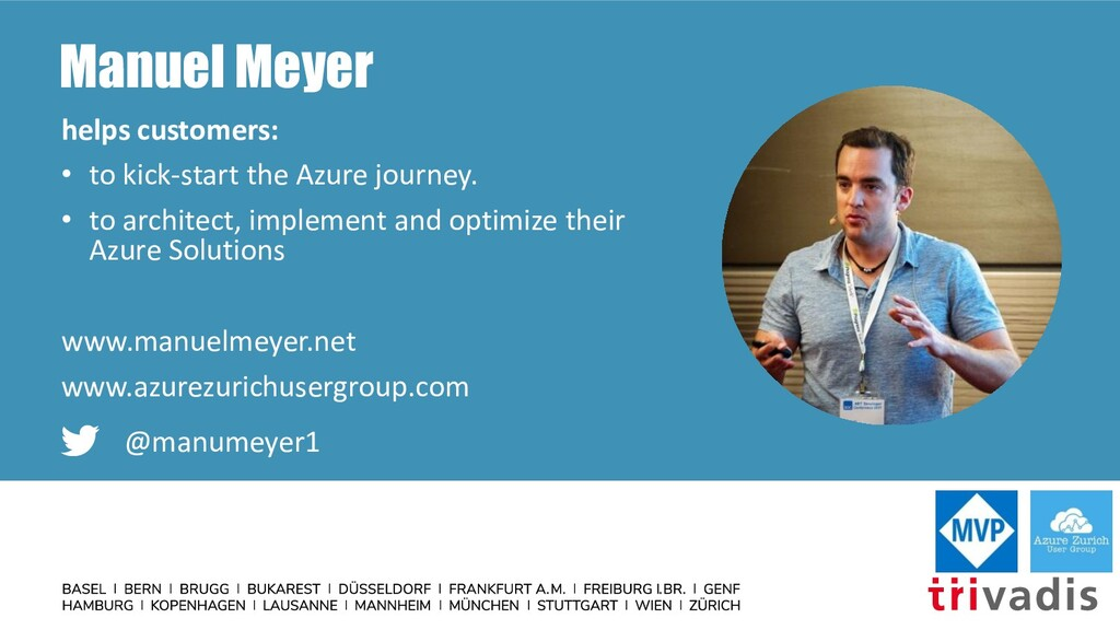 Manuel Meyer helps customers: • to kick-start t...