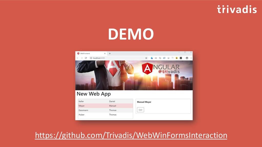DEMO https://github.com/Trivadis/WebWinFormsInt...