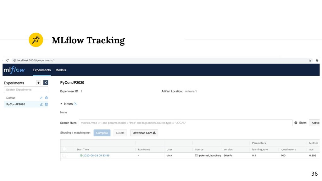 MLflow Tracking 36