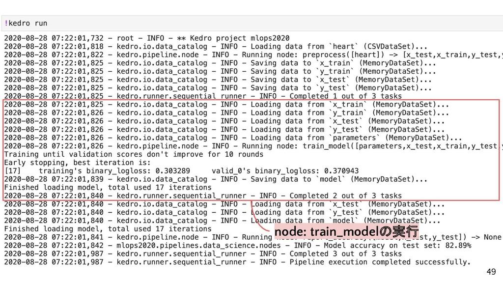 node: train_modelの実行 49