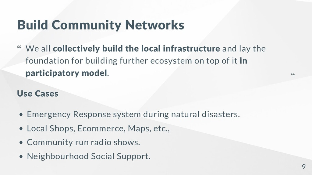 Build Community Networks Use Cases Emergency Re...
