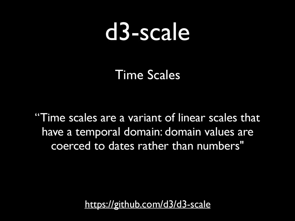 "d3-scale https://github.com/d3/d3-scale ""Time s..."