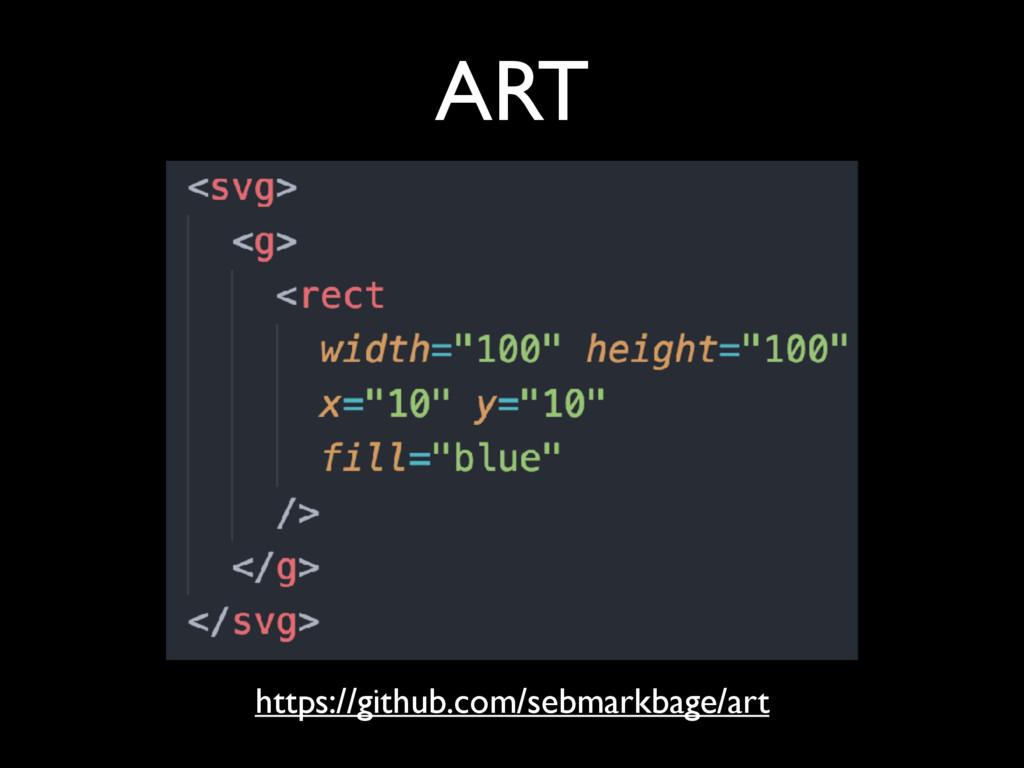 ART https://github.com/sebmarkbage/art