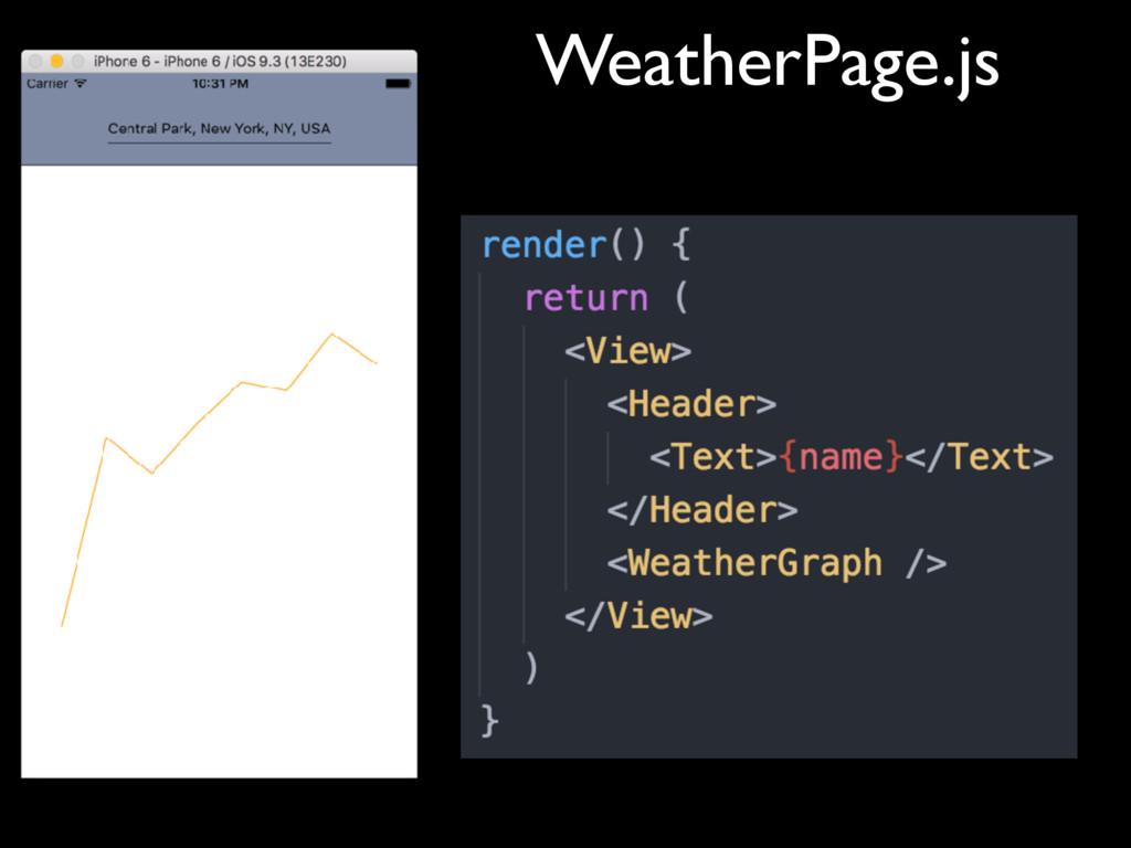 WeatherPage.js