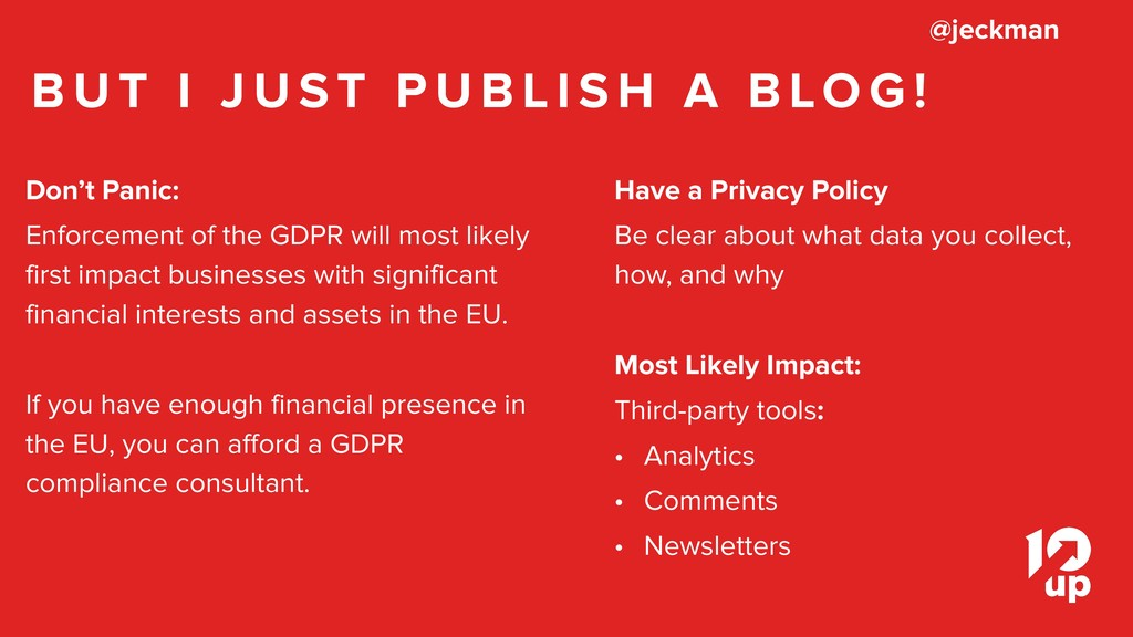 Don't Panic: Enforcement of the GDPR will most ...