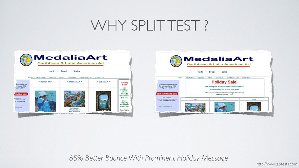 WHY SPLIT TEST ? 65% Better Bounce With Promine...