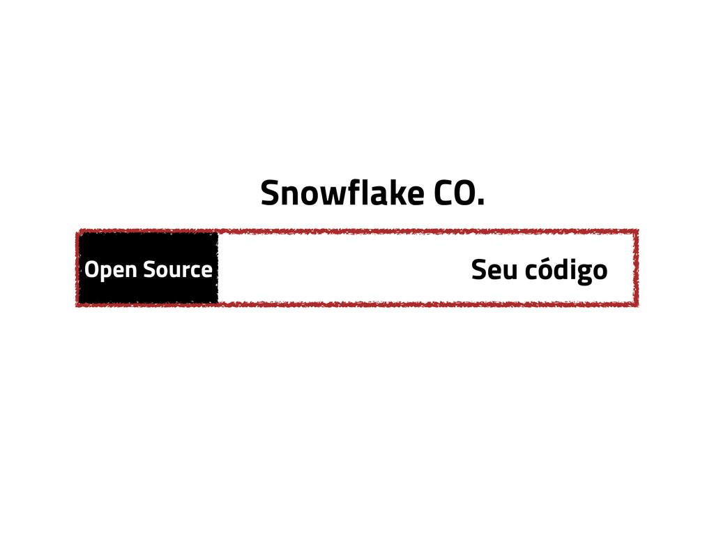 Open Source Seu código Snowflake CO.