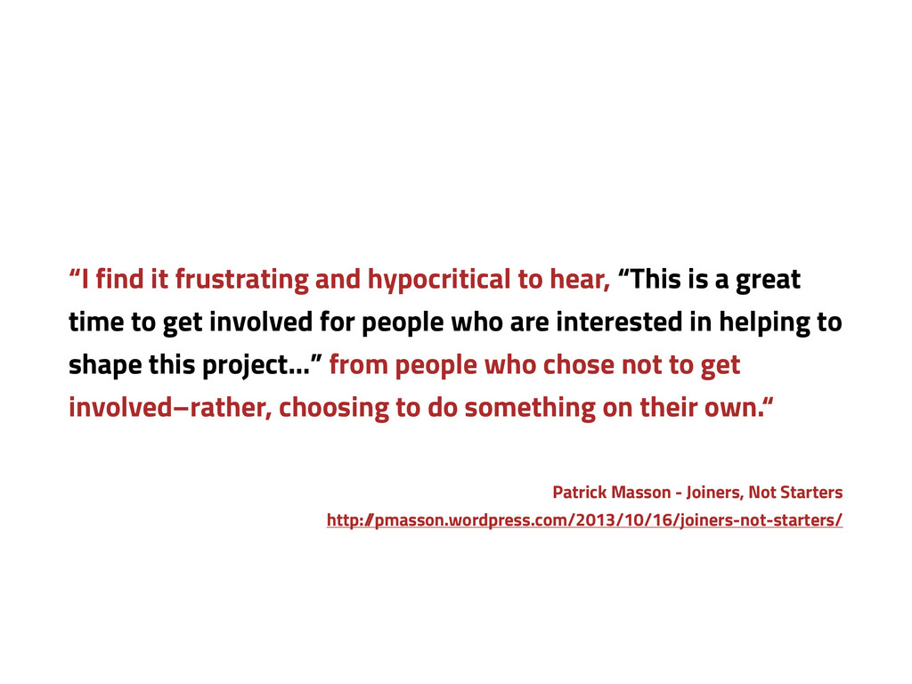 """""""I find it frustrating and hypocritical to hear..."""