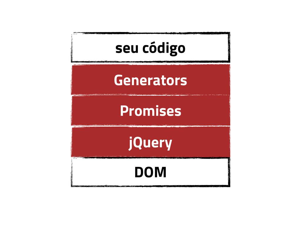 DOM jQuery seu código Promises Generators
