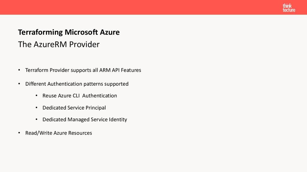 The AzureRM Provider • Terraform Provider suppo...