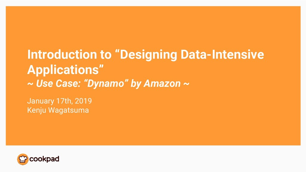 "Introduction to ""Designing Data-Intensive Appli..."