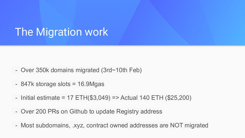 - Over 350k domains migrated (3rd~10th Feb) - 8...