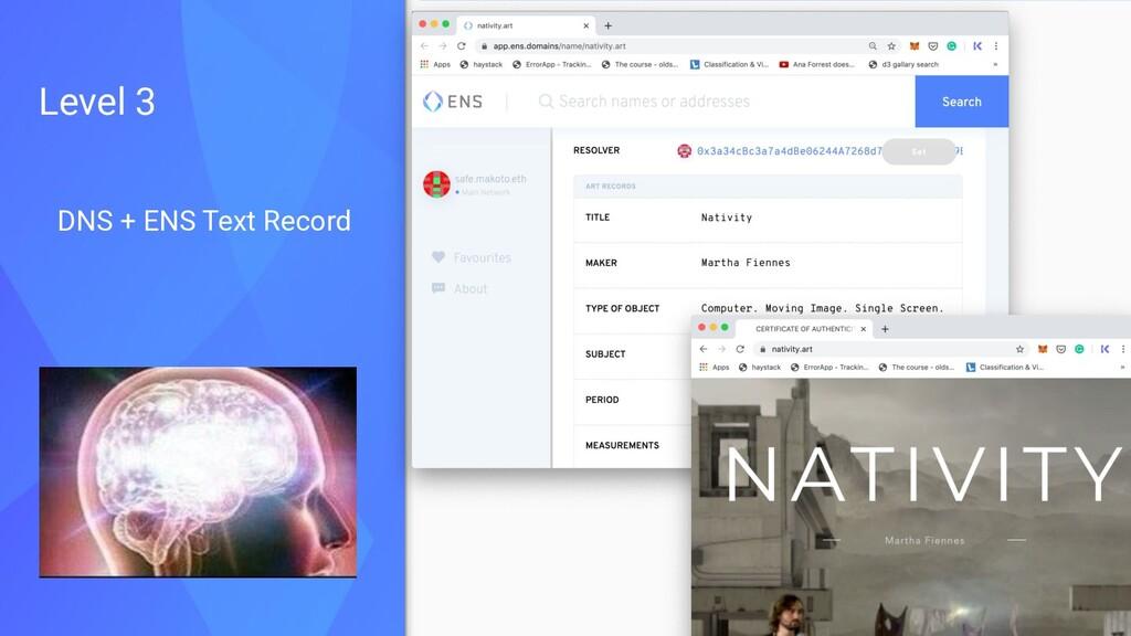 DNS + ENS Text Record Level 3