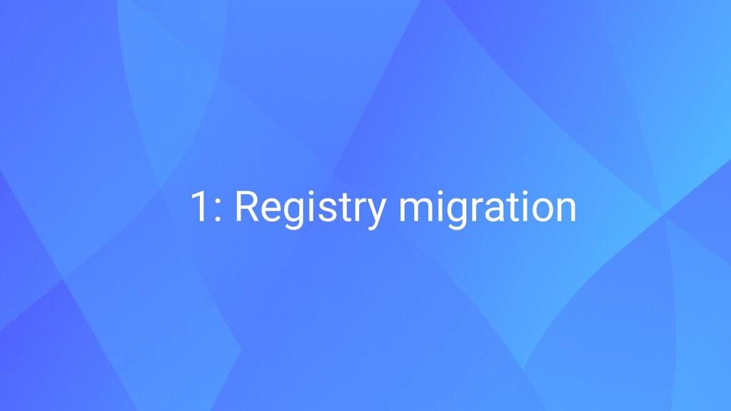 1: Registry migration