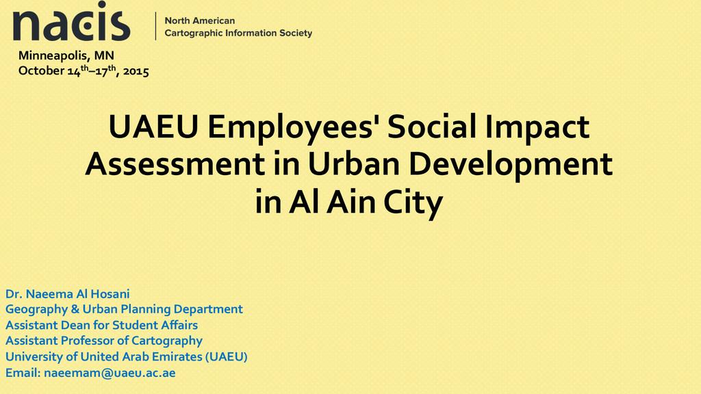 UAEU Employees' Social Impact  Asse...