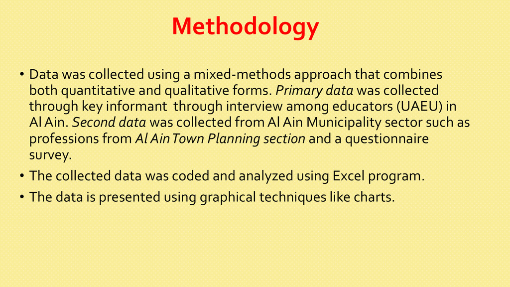 Methodology  • Data was collected ...