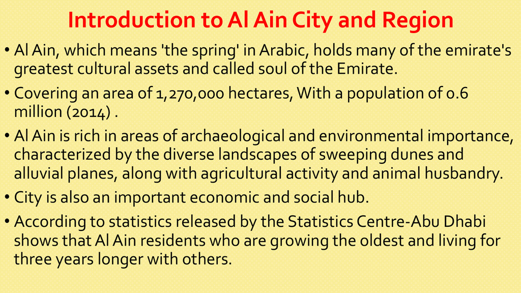 Introduction to Al Ain City and...