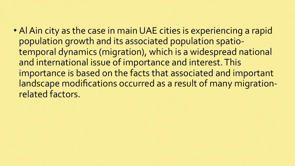 •Al Ain city as the case in...